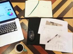 Schreibtisch Schreinerei Skizze Entwurf Gesagt Getan Möbeldesign Kempen Willich